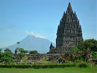 2006 Yogyakarta earthquake - The volcano with Prambanan