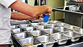 Preparing the parrots food (6780651012).jpg