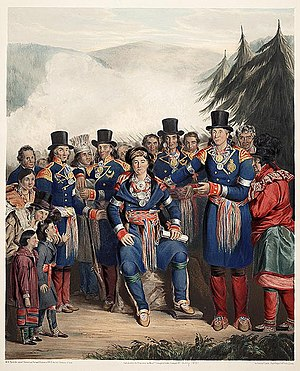 Nicolas Vincent - Image: Presentation of a newly elected Chief of the Huron Tribe, Canada