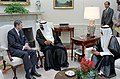President Ronald Reagan during a working visit of Prime Minister and Crown Prince Al Sabah of Kuwait.jpg
