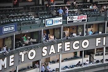 Press box at Safeco Field