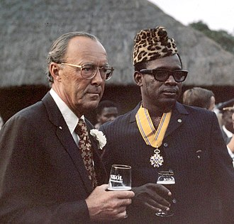 Mobutu Sese Seko - Mobutu Sese Seko with the Dutch Prince Bernhard in 1973