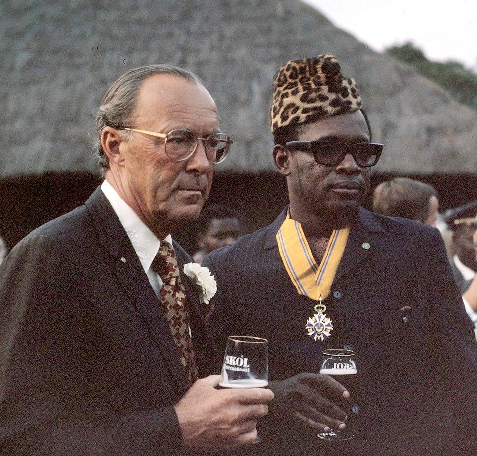 Prince Bernhard and Mobutu Sese Seko 1973