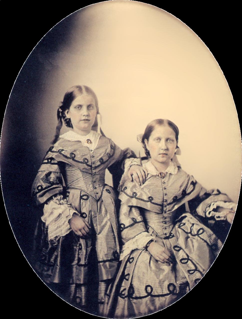 Princess Isabel and Leopoldina 1855 frame removed