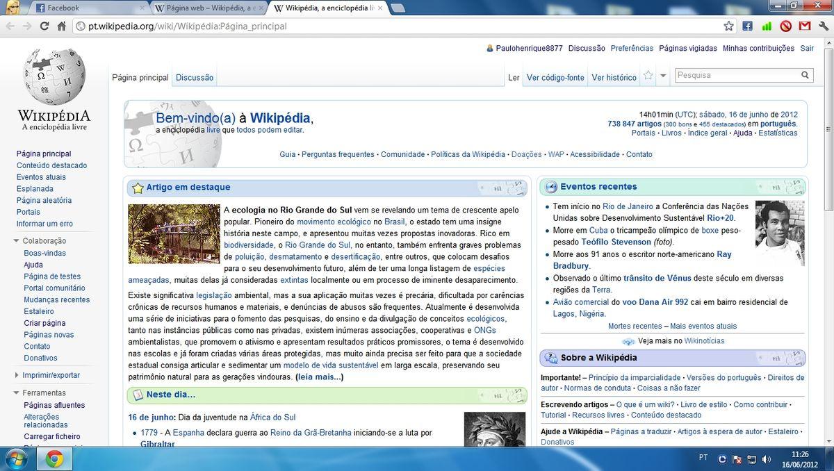 P gina web wikip dia a enciclop dia livre for Que es una pagina virtual