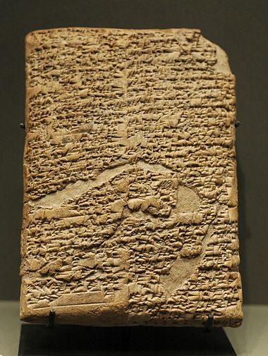 Among many other things, the Code of Hammurabi recorded interest-bearing loans. Prologue Hammurabi Code Louvre AO10237.jpg