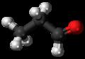 Propionaldehyde 3D ball.png