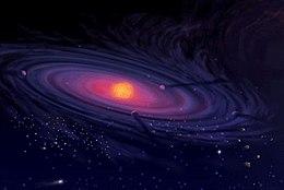Rappresentazione artistica di un sistema planetario in formazione.