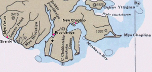 Cape Chaplino - Map of Cape Chaplin area