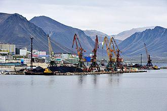 Provideniya - Seaport facilities in Provideniya