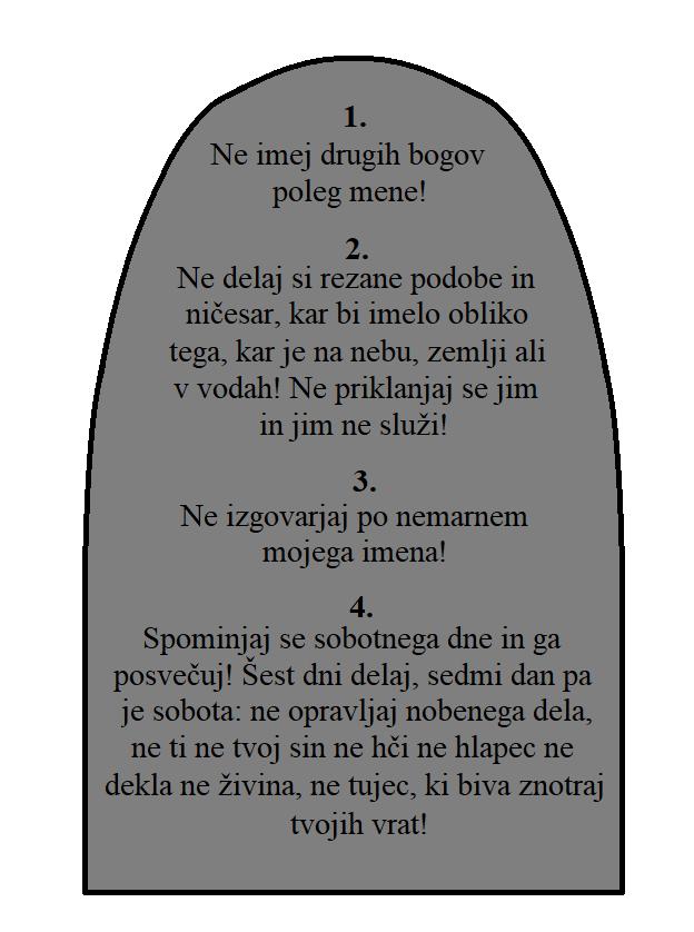 Prva plošča zapovedi