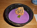 Purple sweet potato pudding in Osaka.jpg