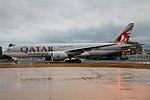Qatar Cargo, A7-BFF, Boeing 777-FDZ (43458287200).jpg