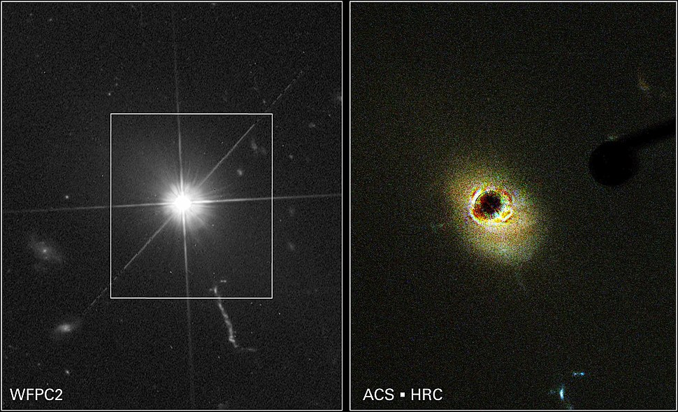 Quasar viewed from Hubble