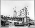 Queensland State Archives 3627 Main bridge erection stage 3 three panels of anchor arm completed Brisbane 15 March 1938.png