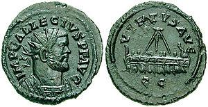 Quinarius -  Allectus Æ quinarius