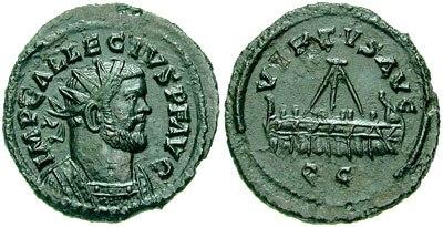 Quinarius Allectus galley-RIC 0128.2