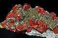 Réalgar, tétrahédrite, orpiment, quartz 1.JPG