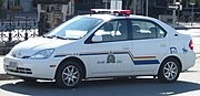 An RCMP Toyota Prius school liaison car in Ottawa.