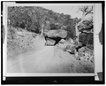 ROAD CONSTRUCTED UNDER TUNNEL ROCK, NO DATE - Generals Highway, Three Rivers, Tulare County, CA HAER CAL,54-THRIV.V,2-21.tif