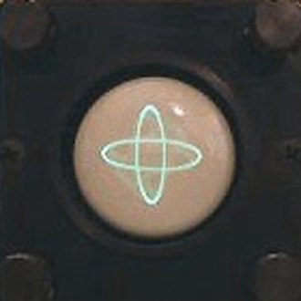 Radioteletype - Tuning indicator on cathode ray tube
