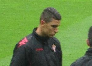 Rachid Aït-Atmane - Rachid warming up for Sporting Gijón