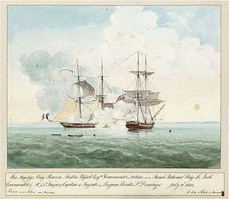 Blockade of Saint-Domingue - Capture of French brig Lodi by HMS Racoon on 11 July 1803 off Léogâne