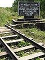 Rails and Sign - Burma-Siam 'Death Railway' - Thanbyuzayat - Near Mawlamyine (Moulmein) - Myanmar (Burma) (11954847404).jpg