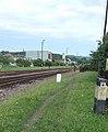 Railway station, sector and footpath sign, 2020 Zagyvapálfalva.jpg