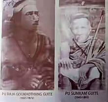 Raja Gokhothang and his son, the crowned prince, Sum Kam.jpeg