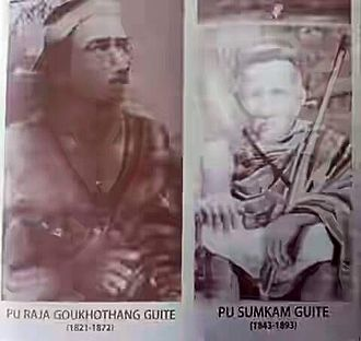 Chin people - Raja Gokhothang (Kokutung), the then Chief of Zo people, and his son, the crowned prince, Sum Kam