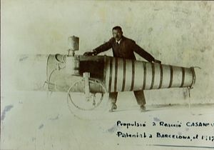 Pulsejet - Ramon Casanova and the pulsejet engine he constructed and patented in 1917