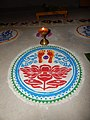 Rangoli decorations, made using coloured fine powder on the eve of Dipavali.jpg