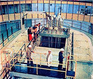 Maria reactor - The reactor during construction