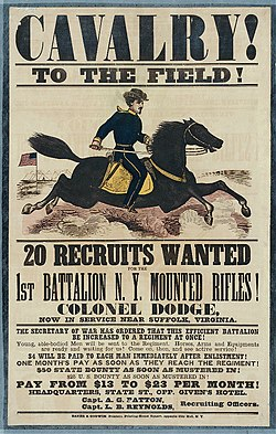 Recruiting poster New York Mounted Rifles