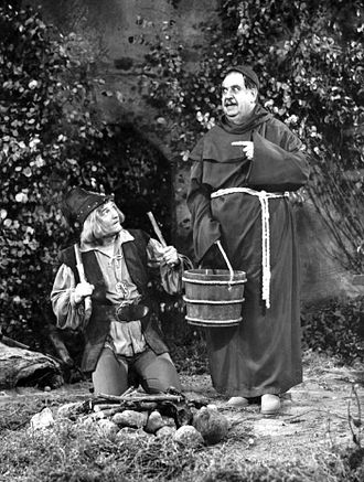 Billy Gilbert - Gilbert as Friar Tuck and Red Skelton as Robin Hood in this Red Skelton Show 1956 sketch.