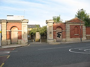 Royal Marine Barracks, Woolwich - Entrance to the former Royal Marine Infirmary (later known as Red Barracks)