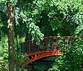 Red model railway bridge, Stratford Park,Stroud - geograph.org.uk - 1624086.jpg