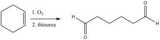 Thiourea - reduction cleavage of product from ozonolysis