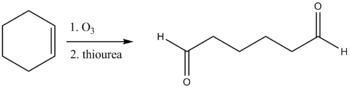 reduction cleavage of product from ozonolysis