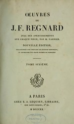Jean-François Regnard: Œuvres complètes de Regnard