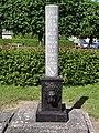 Regniowez (Ardennes, Fr) pierre commémorative de la Halle.JPG