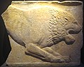 Relief with an attacking lion, Archaeological Museum of Tegea (2017, exhibit 1).jpg