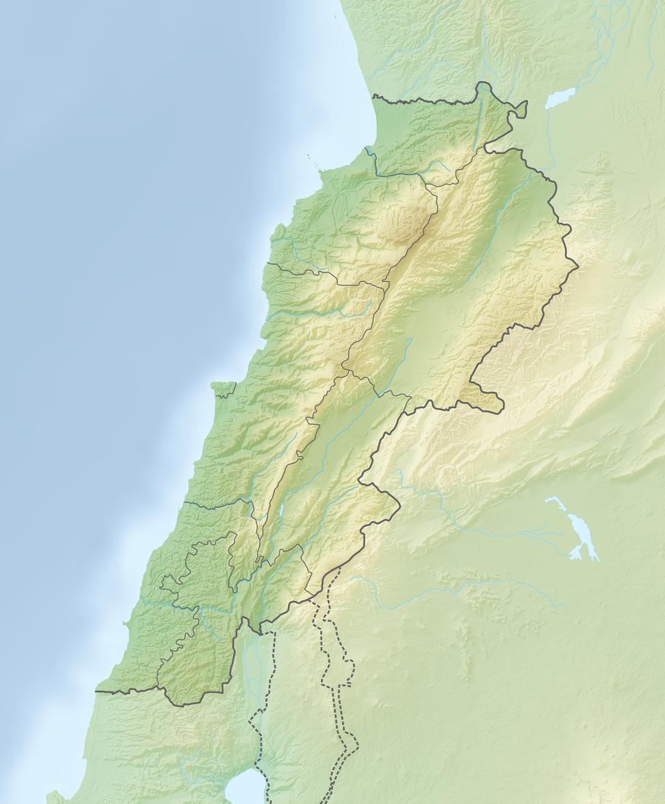 Reliefkarte Libanon