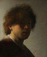 Autoportrait aux cheveux ébouriffés