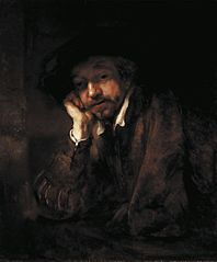 Rembrandt leaning on a Windowsill