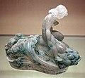 René lailique, statuetta di ragazza del mare, vetro bianco patinato, 1919 ca.jpg