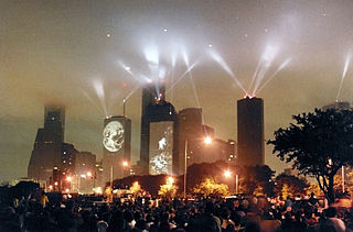 <i>Rendez-vous Houston</i> 1986 concert by Jean Michel Jarre in downtown Houston, Texas