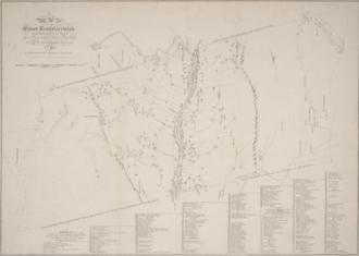 Manor of Rensselaerswyck - 1767 map of Rensselaerswyck