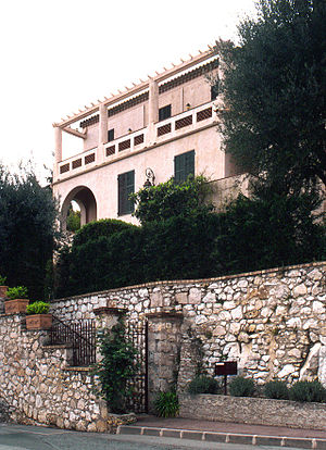 Han van Meegeren - Han van Meegeren's Mansion Primavera in Roquebrune-Cap-Martin. It was here, in 1936, that van Meegeren painted his forgery The Supper at Emmaus, which later sold for about $300,000.